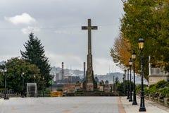 Verschiedene Standorte in der Stadt von Pontevedra stockfoto