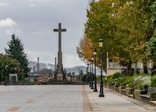 Verschiedene Standorte in der Stadt von Pontevedra lizenzfreies stockfoto