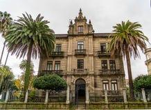 Verschiedene Standorte in der Stadt von Pontevedra stockfotos