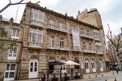 Verschiedene Standorte in der Stadt von Pontevedra lizenzfreies stockbild