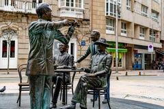 Verschiedene Standorte in der Stadt von Pontevedra lizenzfreie stockfotografie