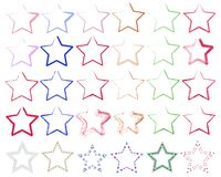 Verschiedene Sterne Stockfotos