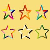Verschiedene Sterne eingestellt Stockbilder