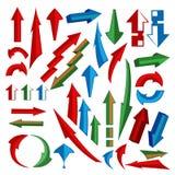 Verschiedene Symbole in den abstrakten Fenstern Lizenzfreie Stockbilder
