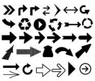 Verschiedene Symbole in den abstrakten Fenstern Stockbilder