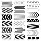 Verschiedene Symbole in den abstrakten Fenstern Modernes Pfeildesign Lizenzfreies Stockfoto