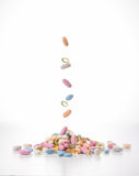 Verschiedene Tabletten Stockfoto