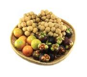 Verschiedene thailändische Früchte Stockbilder