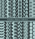 12 verschiedene traditionelle nahtlose Muster Japans Stockbild