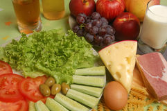 Verschiedene Typen der Kalorie lizenzfreies stockbild