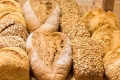 Verschiedene Typen des Brotes Stockfotos