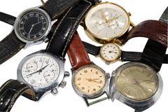 Verschiedene Uhren Stockfoto