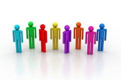 Verschiedene Völker in einem Team Lizenzfreies Stockbild
