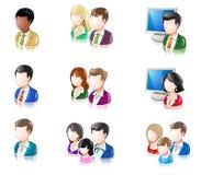 Verschiedene Völker glattes IconSet 2 Lizenzfreies Stockbild