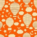 Verschiedene Varianten der Farbe sind möglich abstrakte, glatte Linien, viele, nahtloses Muster, Vektor, Ballon, Luftfahrzeug Lizenzfreies Stockbild