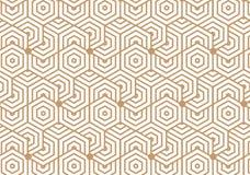 Verschiedene Varianten der Farbe sind möglich Wiederholen von geometrischen Fliesen mit sechseckigem Element Lizenzfreies Stockfoto