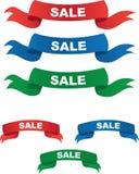 Verschiedene Verkaufs-Fahnen Stockbilder