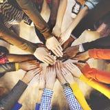 Verschiedene Verschiedenartigkeits-ethnische Ethnie-Veränderungs-Einheit Team Concept stockbilder
