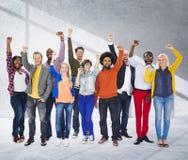 Verschiedene Verschiedenartigkeits-ethnisches Ethnie-Einheits-Veränderungs-Konzept Stockfotografie