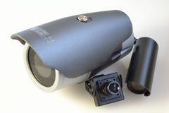 Verschiedene Videokameras Stockfotografie