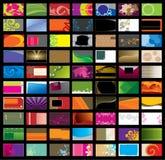 Verschiedene Visitenkarte Stockfotografie