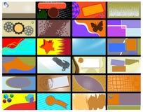Verschiedene Visitenkarte Stockfotos