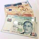Verschiedene Währungen von verschiedenen Ländern Stockbilder