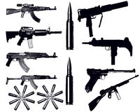 Verschiedene Waffen Stockbild