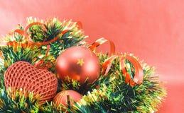 Verschiedene Weihnachtsdekorationen stockfotos