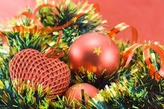 Verschiedene Weihnachtsdekorationen lizenzfreie stockbilder