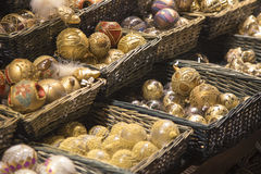 Verschiedene Weihnachtskugeln Lizenzfreie Stockfotografie