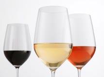 Verschiedene Weine Stockfoto
