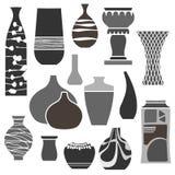 Verschiedene wertvolle Vasen Lizenzfreie Stockfotografie