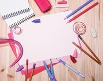 Verschiedene Zeichnungsmaterialien Lizenzfreie Stockbilder