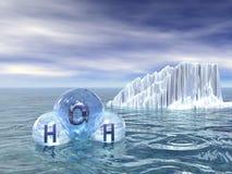 Verschiedene Zustände des Wassers stock abbildung