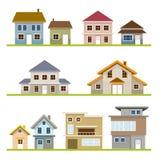 Verschiedener Haus-Art-Satz Stockfoto