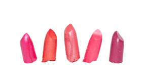 Verschiedener Lippenstift, Nahaufnahme Stockbilder