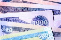 Verschiedener neuer der Irak-Dinar Lizenzfreies Stockfoto