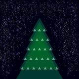 Verschiedener Weihnachtsbaum mit Schnee Stockfotos