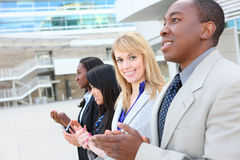 Verschiedenes attraktives Geschäfts-Team Stockbild