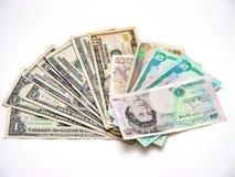 Verschiedenes Bargeld Stockfoto