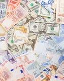 Verschiedenes Bargeld lizenzfreies stockbild
