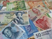 Verschiedenes Bargeld Stockbild