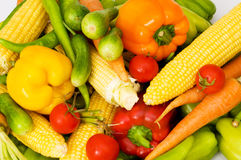 Verschiedenes buntes Gemüse Stockfotografie