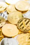 Verschiedenes digitales cryptocurrency Lizenzfreie Stockbilder