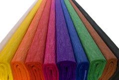 Verschiedenes Farbenpapier Stockfoto