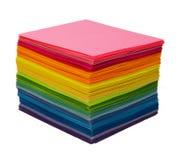 Verschiedenes Farbenpapier Stockfotos