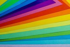 Verschiedenes Farbenpapier Stockbilder