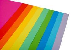 Verschiedenes Farbenpapier Lizenzfreie Stockfotos
