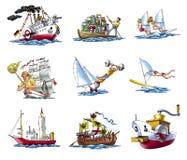 Verschiedenes ships_2 Stockfoto
